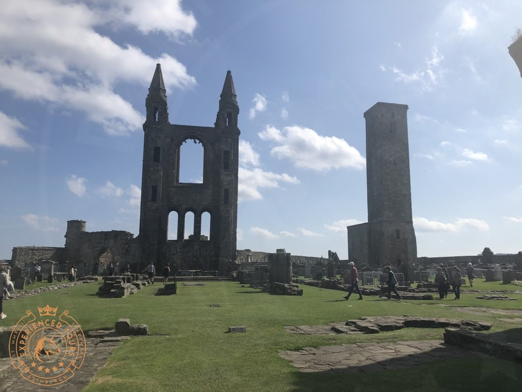 The view over the ruins of St Andrews Cathedral