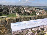The view from St Rules Tower over St Andrews