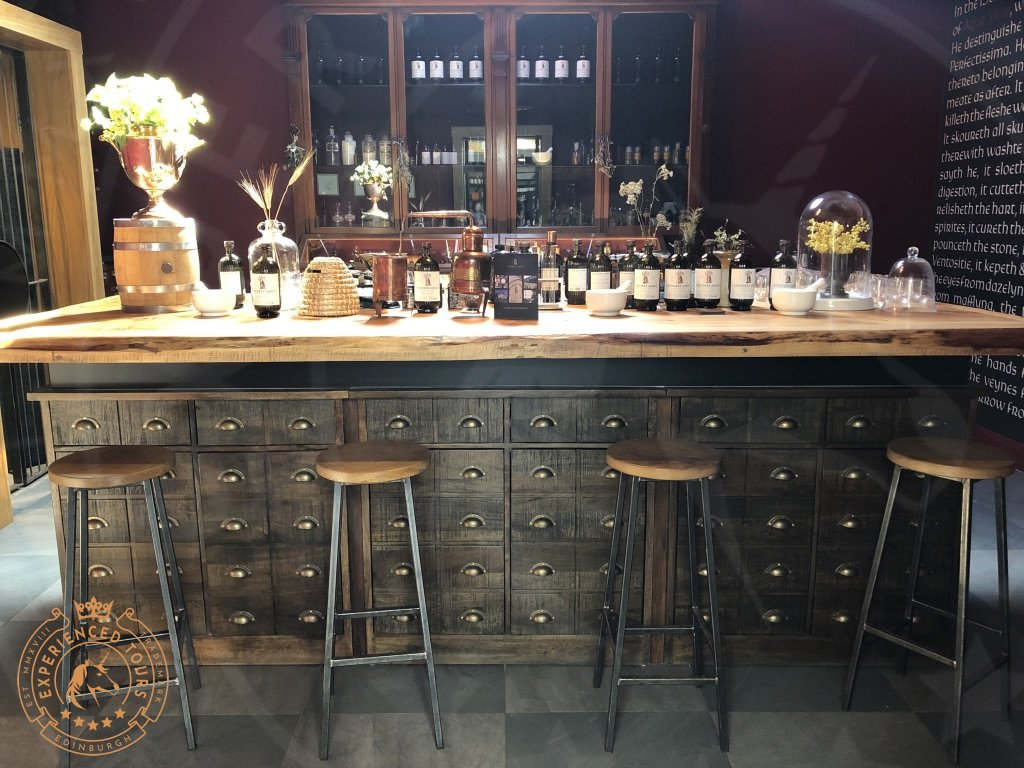 Lindores Abbey Distillery sample room