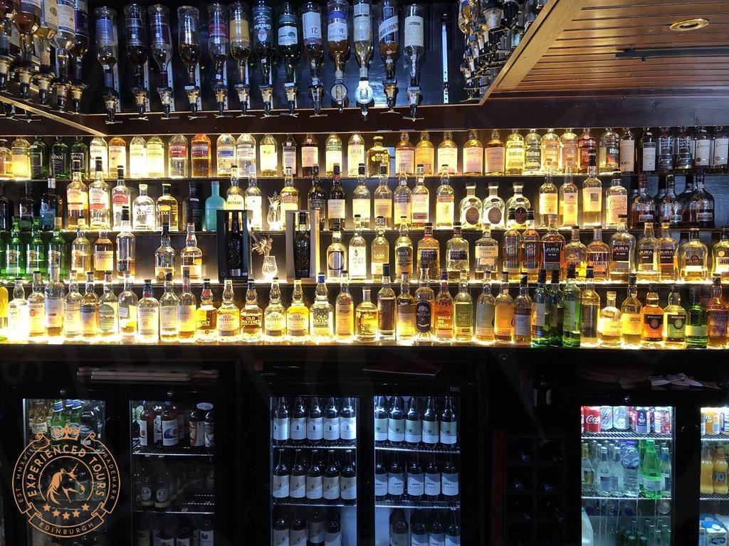 A rare selection of whisky at Seumas' Bar, Isle of Skye