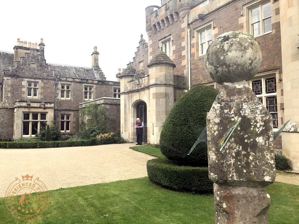 Entrance Courtyard at Abbotsford House