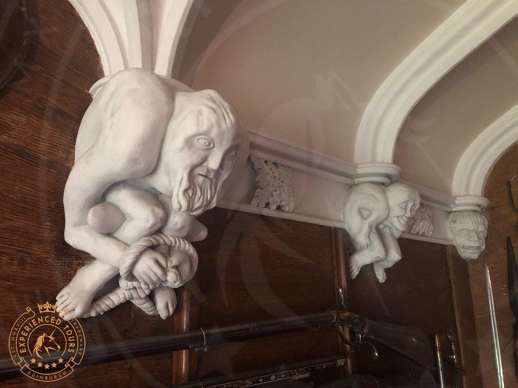 Gargoyles at Abbotsford House