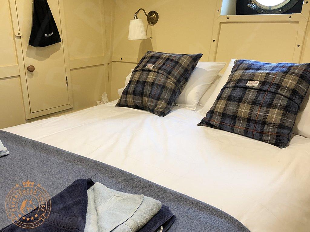 Typical en-suite bedroom onboard