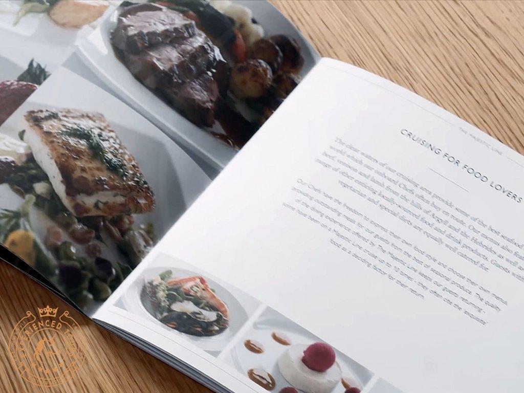 The Majestic Line menu demonstrating food provenance