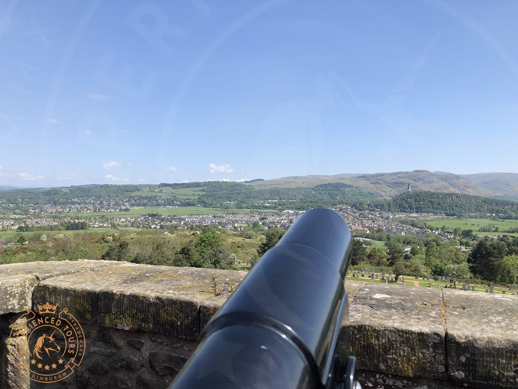 Canon looking over the Carse to the Wallace Monument