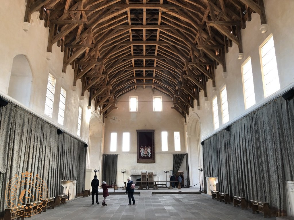 Great Hall at Stirling Castle with vaulted roof