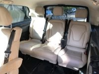 Rear seating in tour van