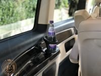 Tour van with water bottle