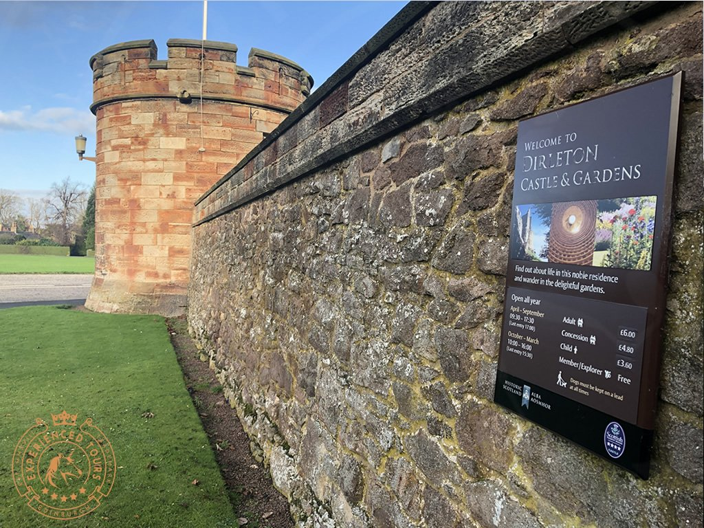 Public entrance at Dirleton Castle