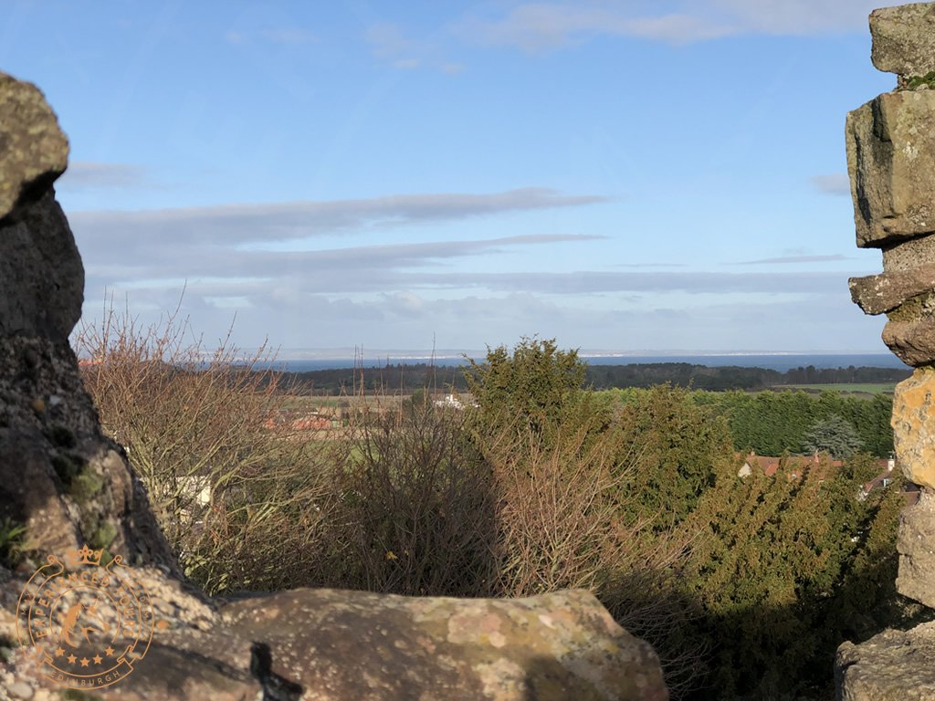 View to the Firth of Forth from Dirleton Castle