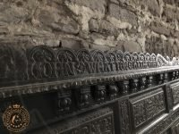 Ornate Carvings on an old Pew