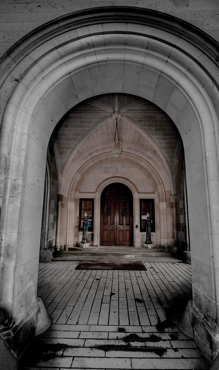 Entrance Porch at Dunrobin