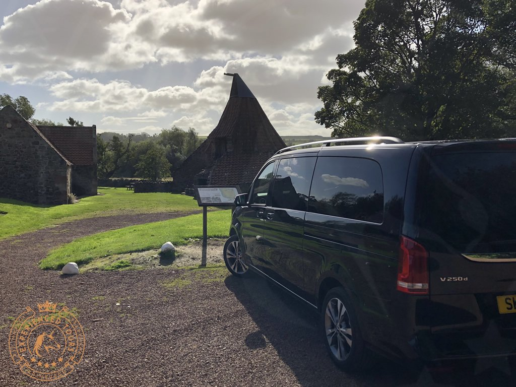 Tour van at Preston Mill