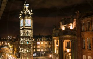 Glasgow Cross at night