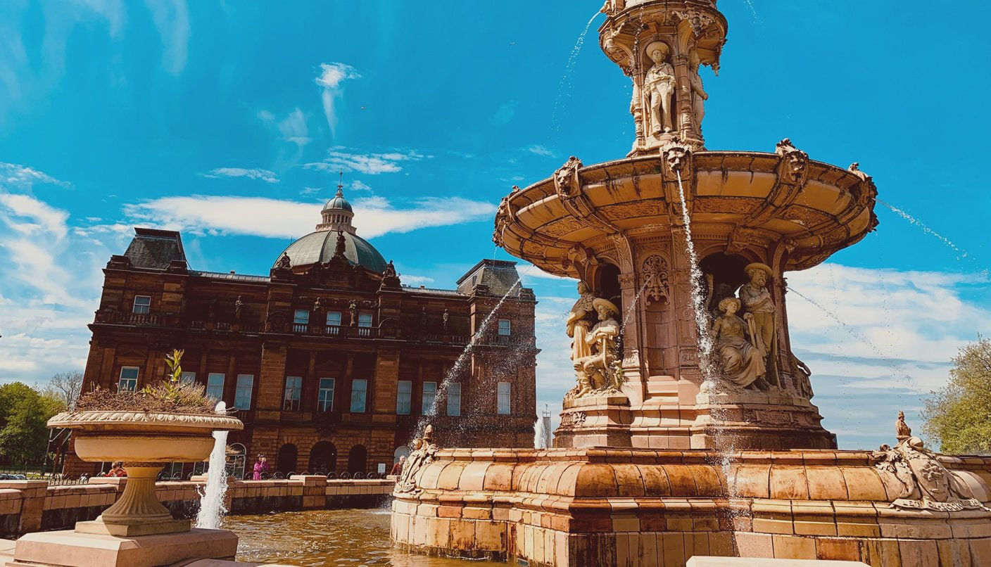 People's Palace and Doulton Fountain, Glasgow