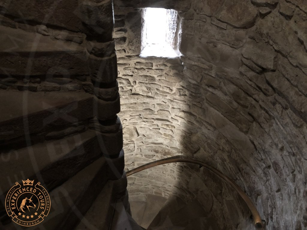Spiral Staircase at Huntingtower Castle