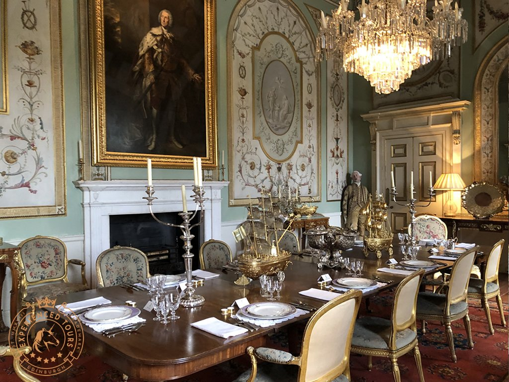 Dining room at Inveraray Castle