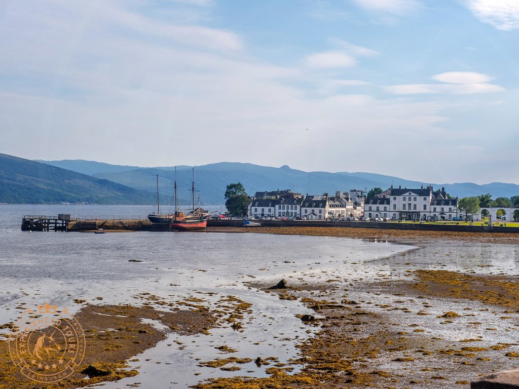 View over Inveraray town and harbour