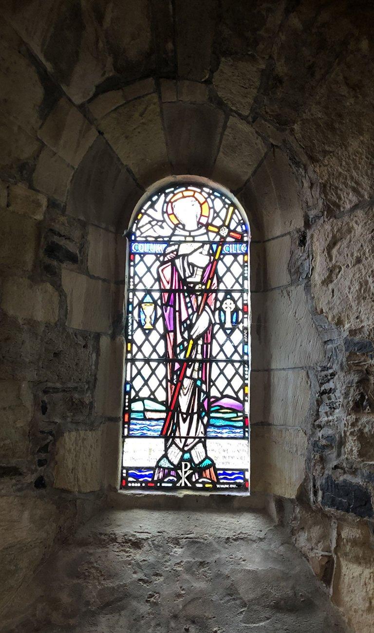 Saint Columba stained glass window
