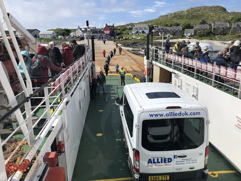Disembarking the small Fionnphort to Iona ferry