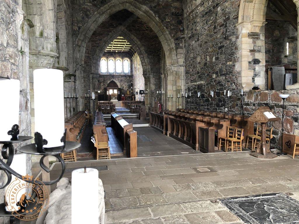 Inside Iona Abbey