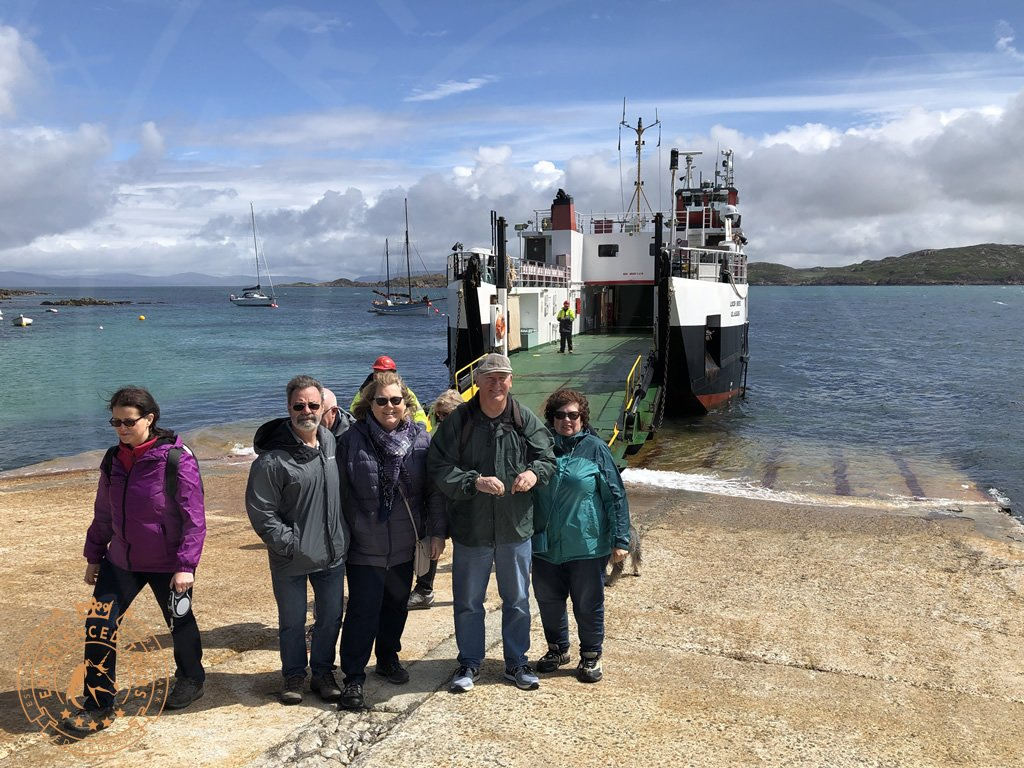Tour group on Fionnphort - Iona Ferry