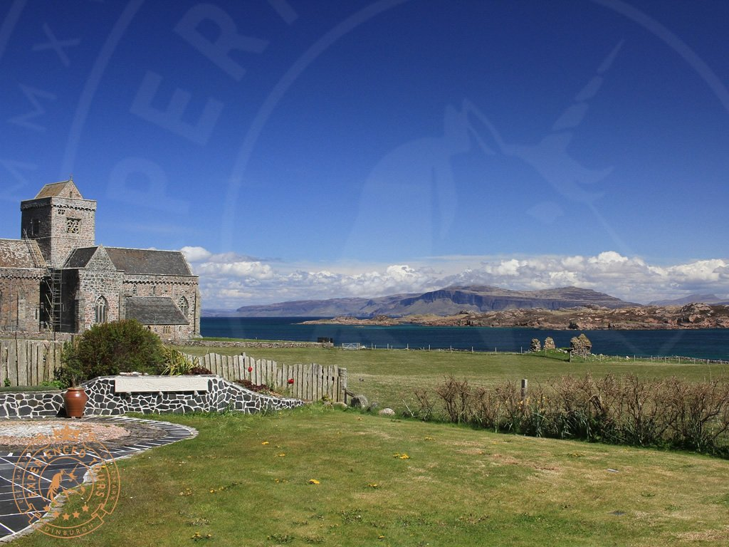 View beyond Iona Abbey
