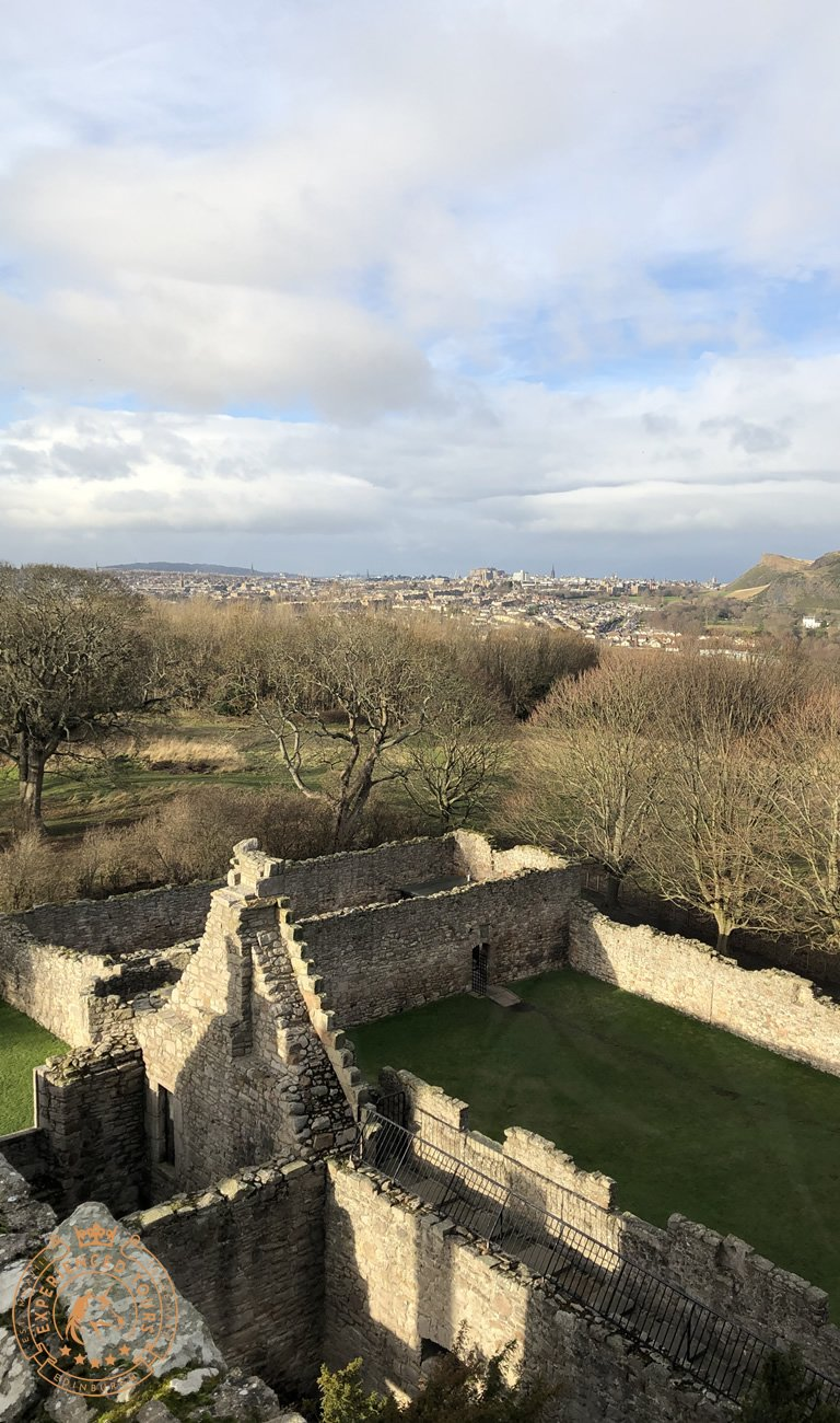 View to Edinburgh Castle from Craigmillar Castle