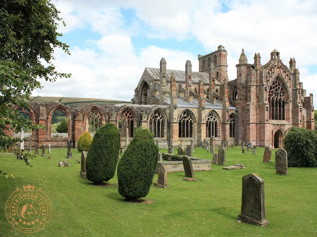 Panoramic view of Melrose Abbey