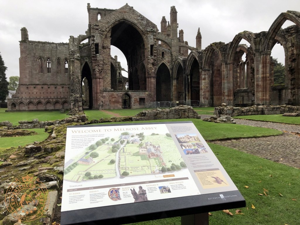 Melrose Abbey Entrance