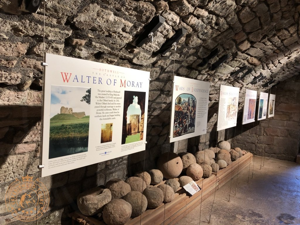 Information in the Cellars at Bothwell Castle