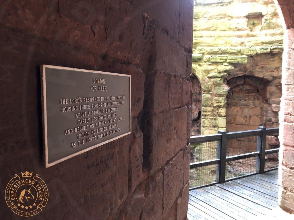 Entrance to original Donjon (Keep)