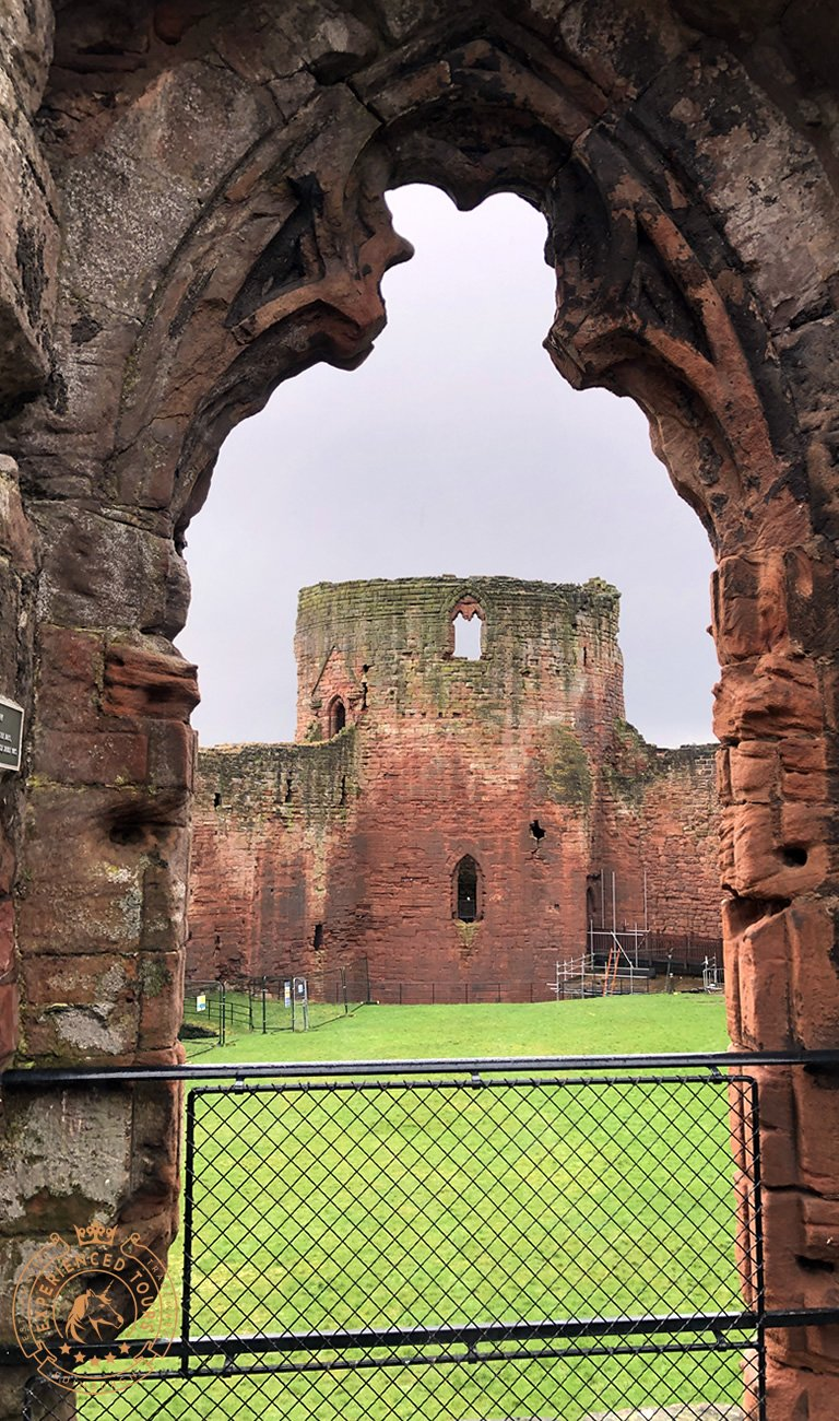 View from Great Hall Window to Donjon at Bothwell Castle