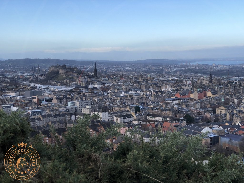 Edinburgh Old Town skyline from The Crags