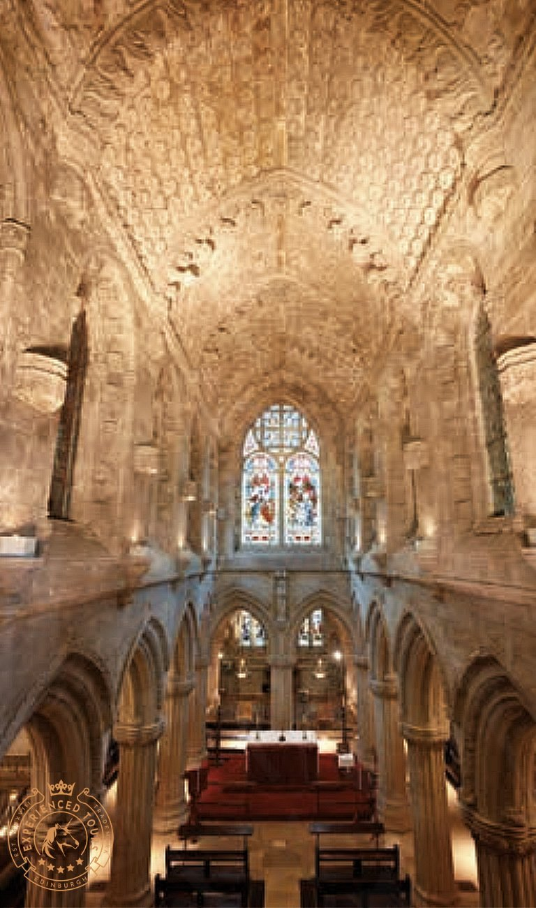 Interior view of Rosslyn Chapel