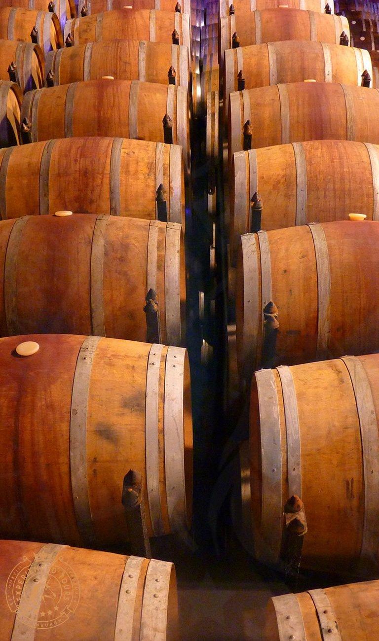 Whisky barrels at the Cooperage