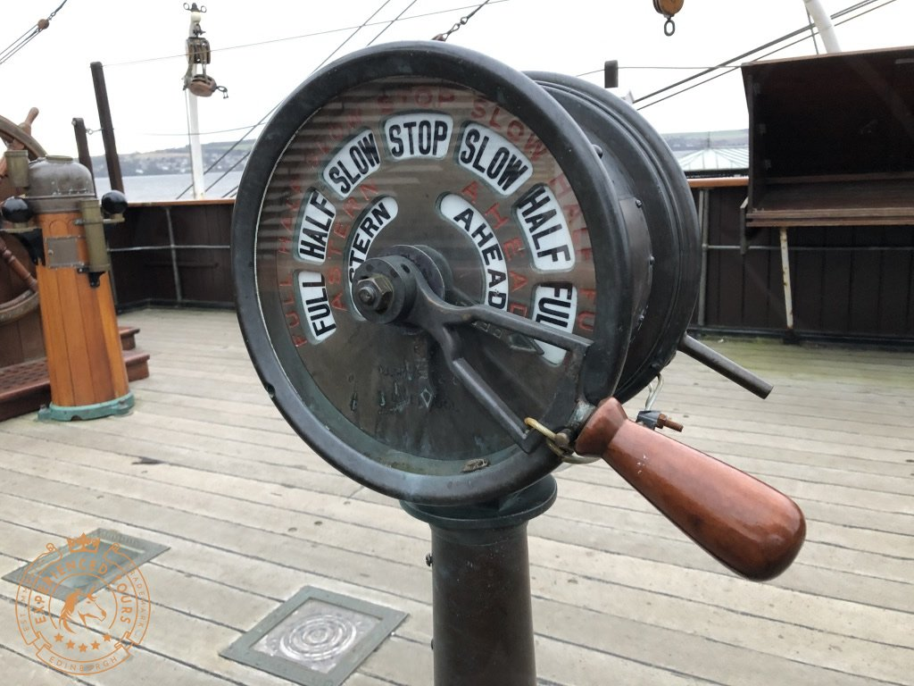 RRS Discovery engine order telegraph