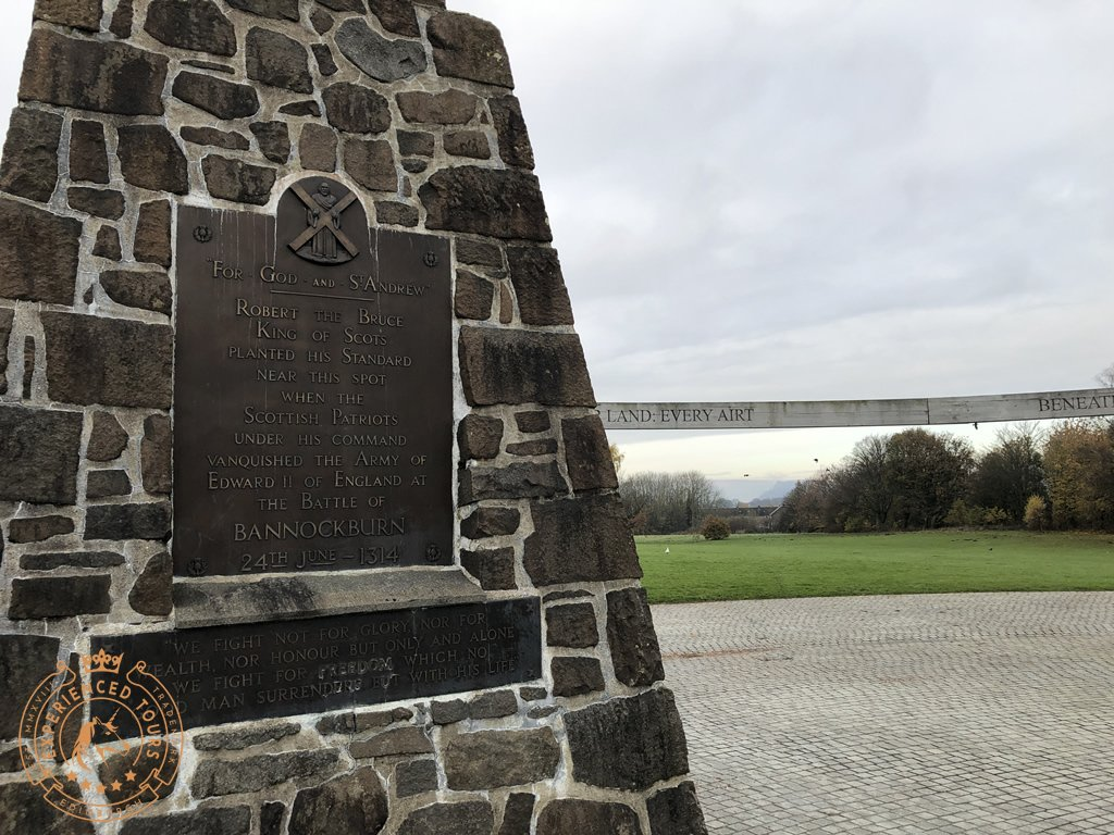 The Cairn at Bannockburn marking the location of the battle