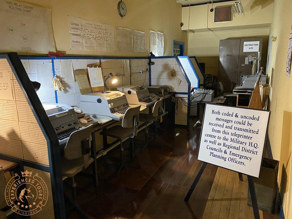 Secret Bunker Teleprinter Centre