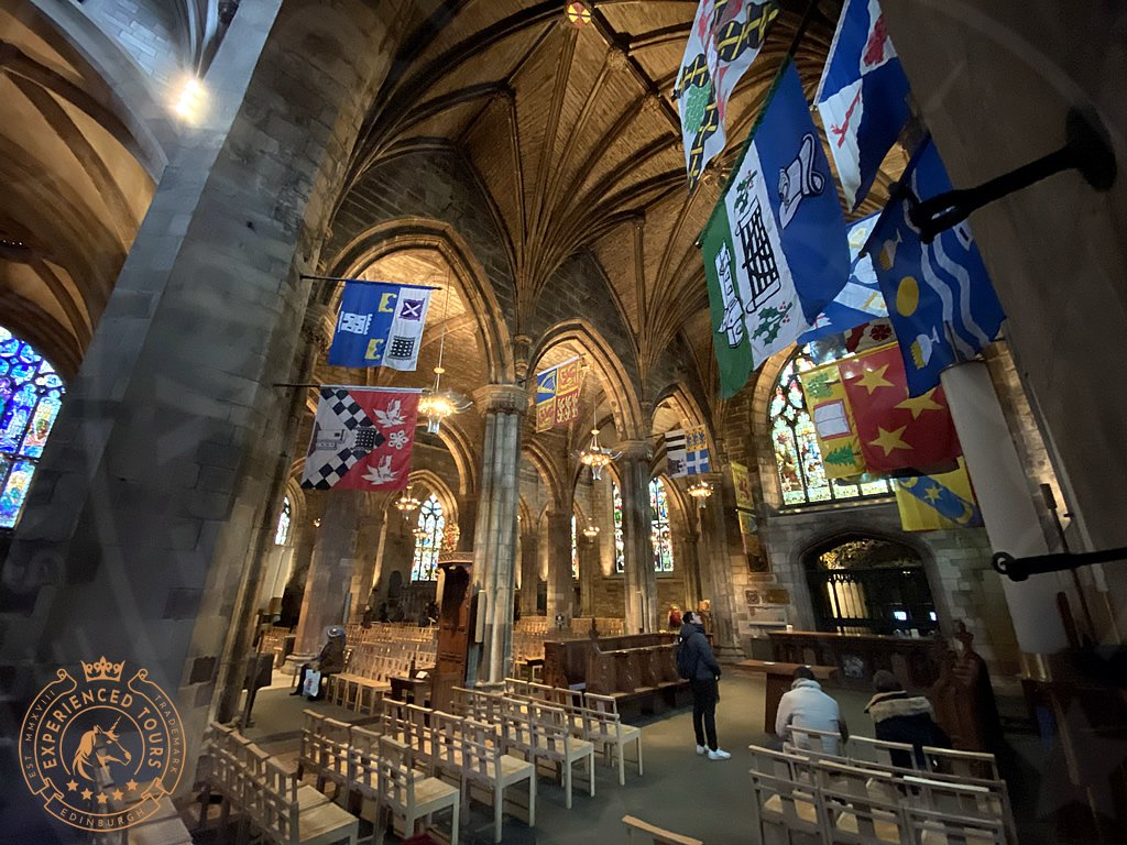 House flags St Giles Cathedral