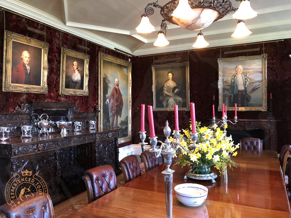 The Dining room at Dunvegan Castle