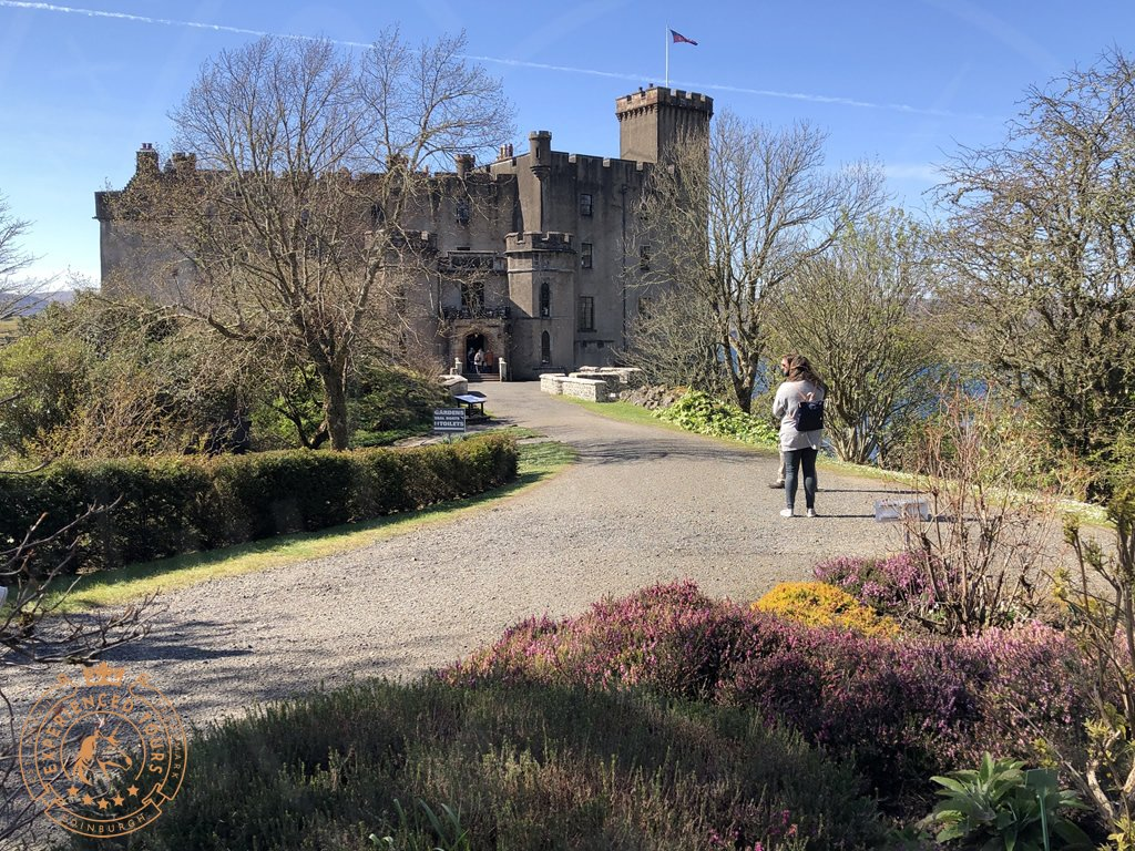 Forecourt and land bridge at Dunvegan Castle