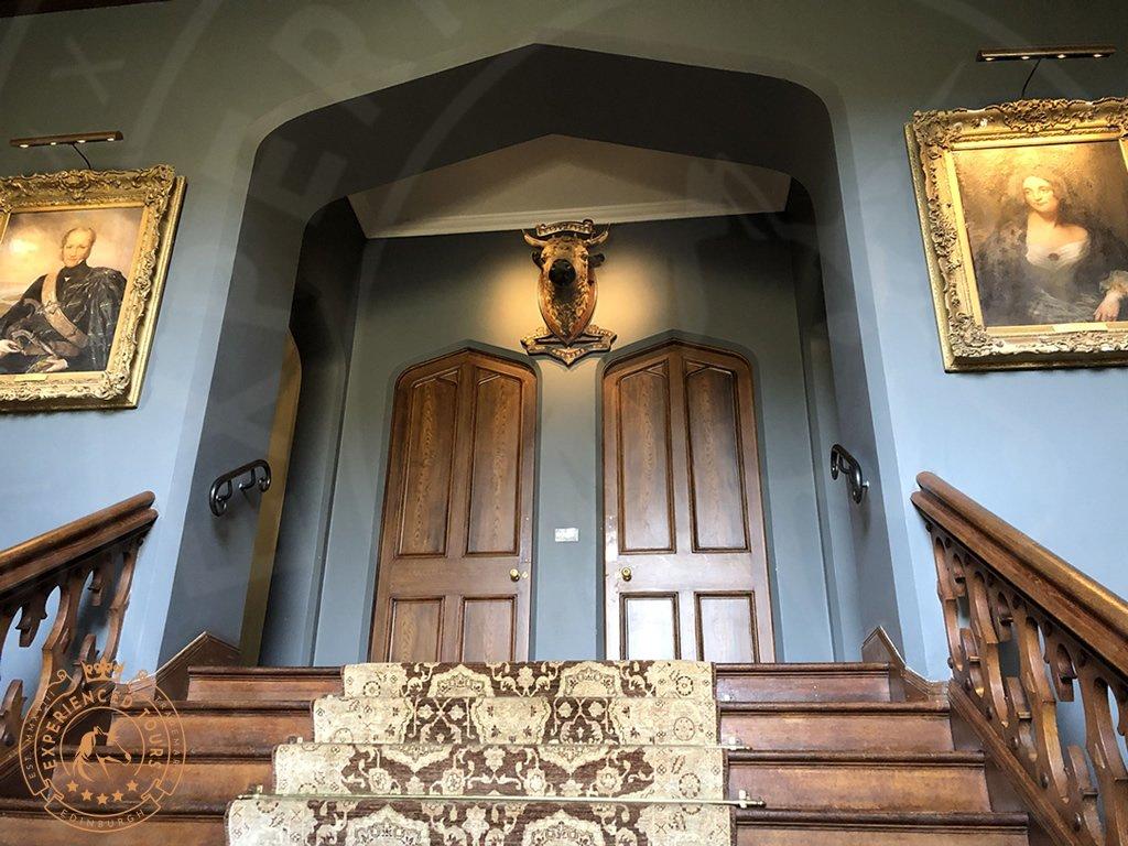 Steps to entrance foyer at Dunvegan Castle