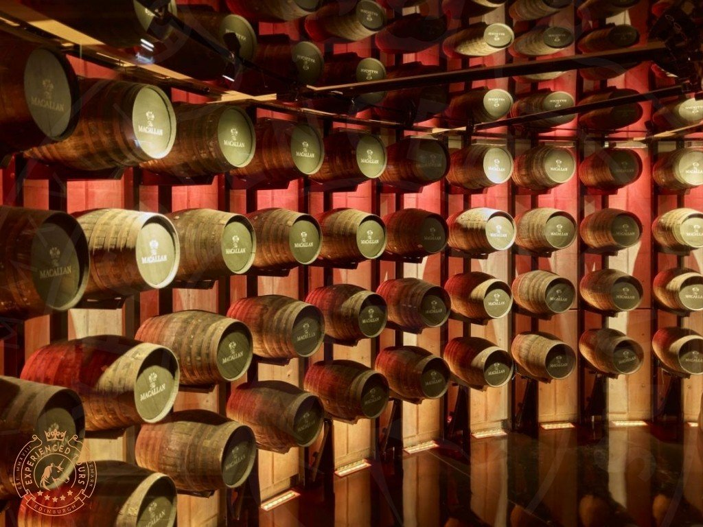 The Macallan Whisky Distillery barrel art