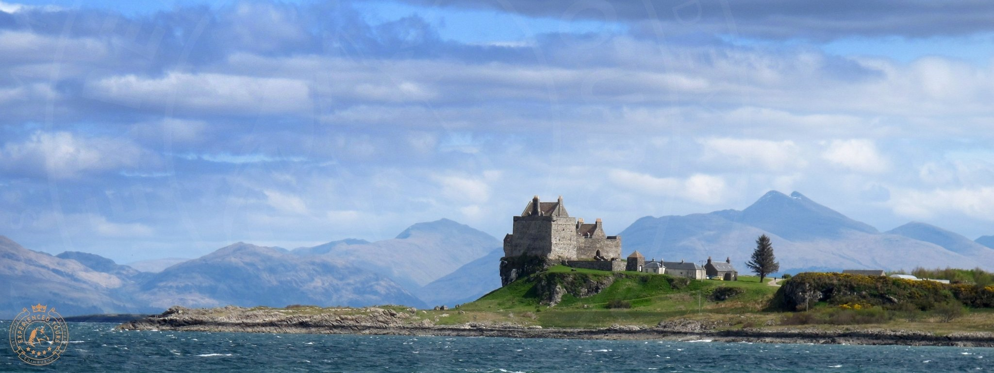 View to Duart Castle from Mull Ferry