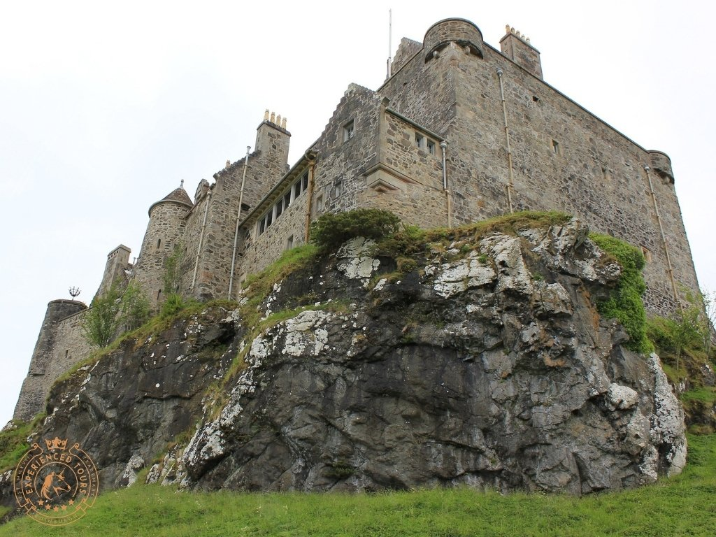 Duart Castle standing on top of Rock