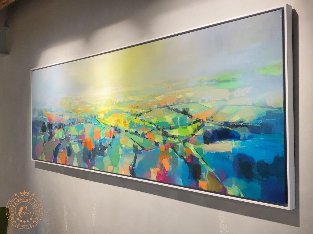 Artwork depicting the local landscape