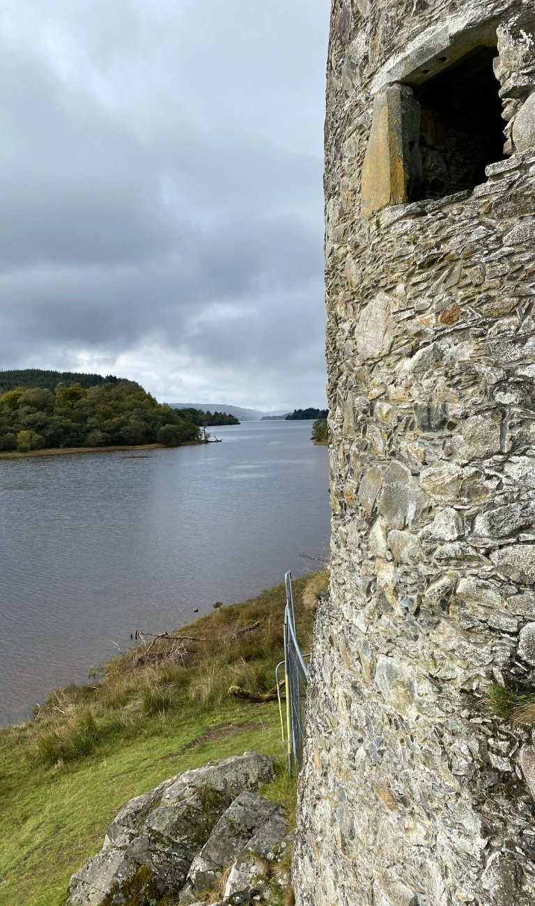 View over Loch Awe from Kilchurn Castle