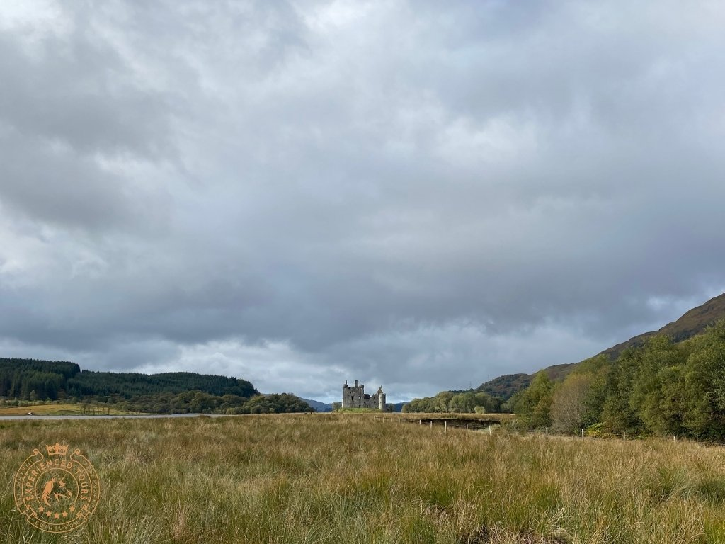 Kilchurn Castle view from the path to the car park