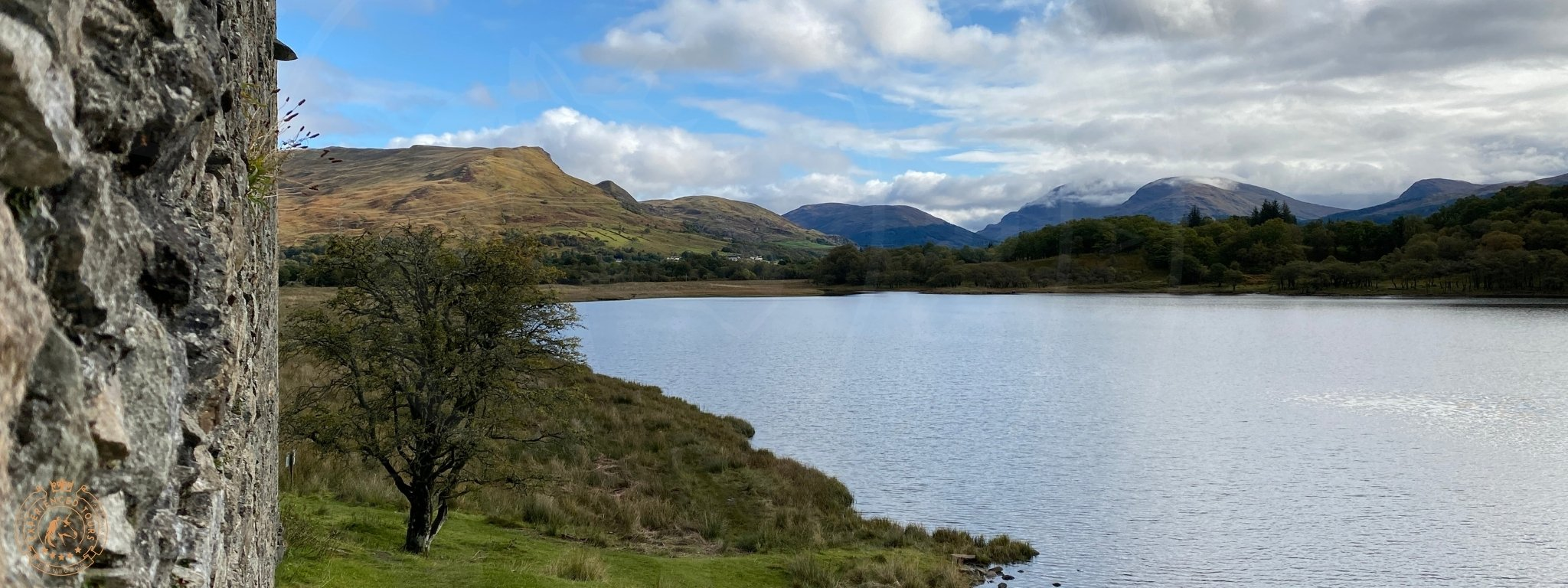 View over the head of Loch Awe from Kilchurn Castle